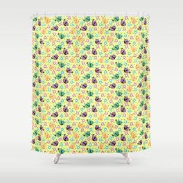 Freely Birds Flying - Fly Away Version 3 - Blonde Yellow Color Shower Curtain