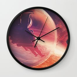 Lava Life in 55 Cancri e, Skies Sparkle Above a Never Ending Ocean of Lava NASA Space Poster Wall Clock