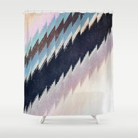 mirror Shower Curtains featuring mirror by spinL