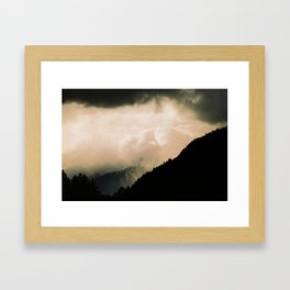 Alpes reality show Framed Art Print