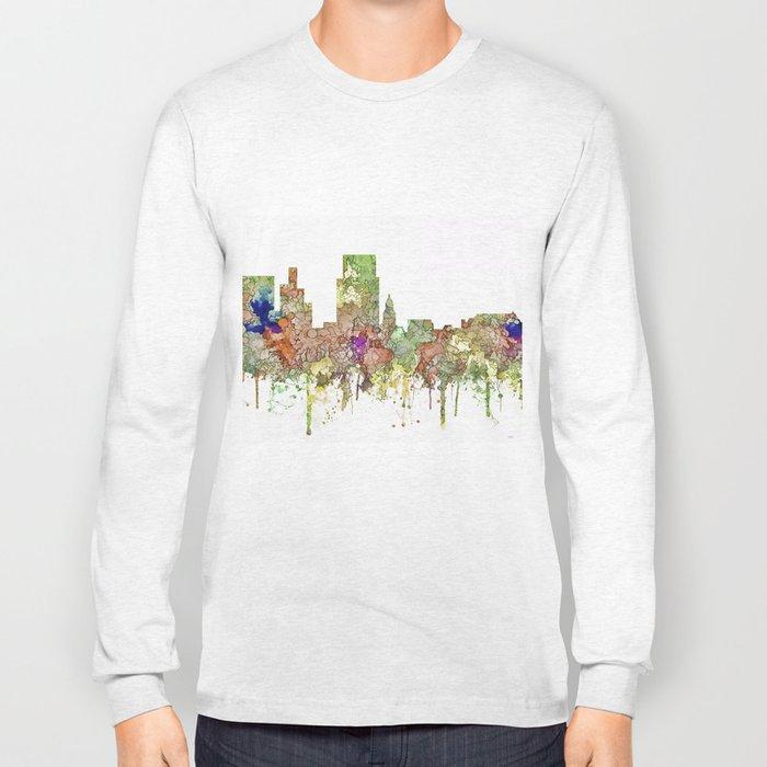 Boise, Idaho Skyline SG - Faded Glory Long Sleeve T-shirt
