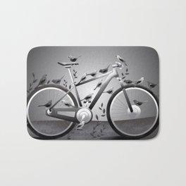Seagulls and Bike Bath Mat