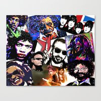 infamous Canvas Prints featuring Infamous by FEENNX