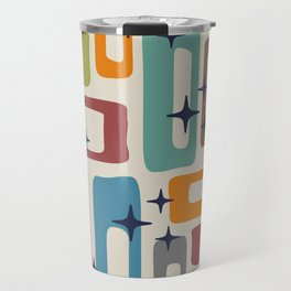Retro Mid Century Modern Abstract Pattern 224 Travel Mug