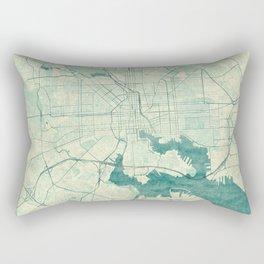 Baltimore Map Blue Vintage Rectangular Pillow