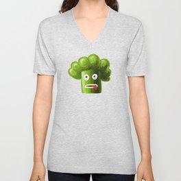 Stressed Out Broccoli Unisex V-Neck