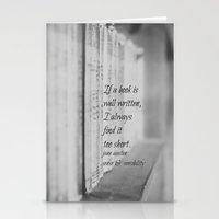 jane austen Stationery Cards featuring Jane Austen Book by KimberosePhotography