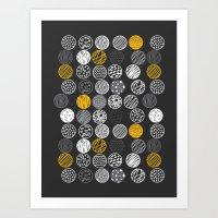 graphic circles Art Print