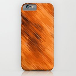 brown orange and dark brown painting texture abstract background iPhone Case