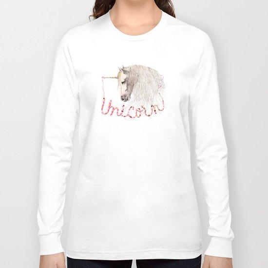 Pink Unicorn Long Sleeve T-shirt