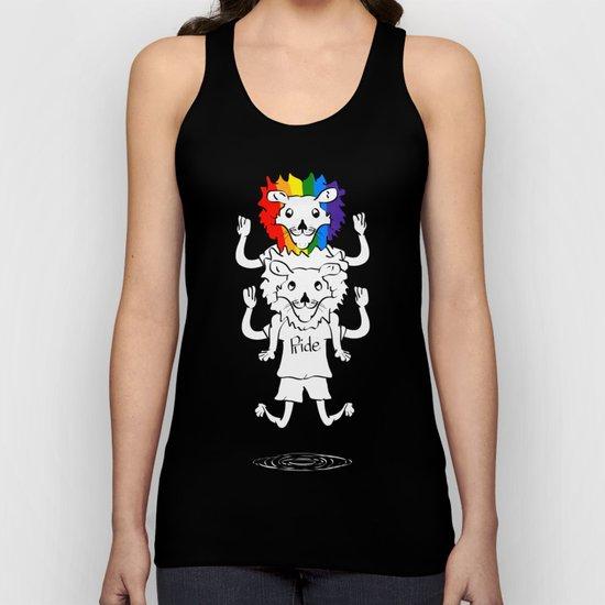 Gay Pride Lions Unisex Tank Top