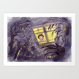 Afraid of the Dark Art Print