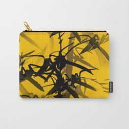 Bamboo Branches On A Yellow Background #decor #society6 #buyart #pivivikstrm Carry-All Pouch