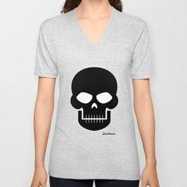 Black Skull Unisex V-Neck
