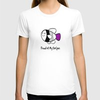 asexual T-shirts featuring Asexual Pride (Proud of My Stripes) by Kylie Summer Wu