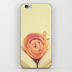 {Old Book and Ranunculus} iPhone & iPod Skin