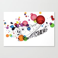 Rolly pop shoes Canvas Print