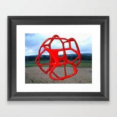 Red Sphere - Sculpture Implants Series Framed Art Print