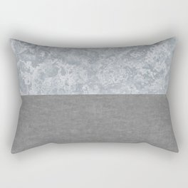 Concrete and Marble Rectangular Pillow