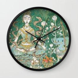 Parvati meditating with Ganesha Wall Clock