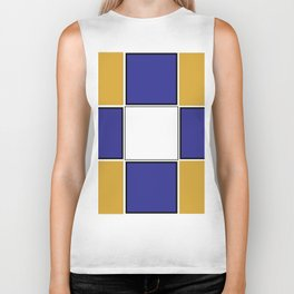 TEAM COLORS 3..... Navy , gold and white Biker Tank