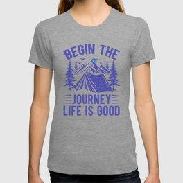 Begin The Journey Life Is Good pb T-shirt