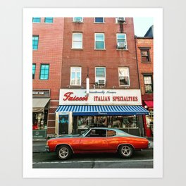 Hot rods & spicy sausages Art Print