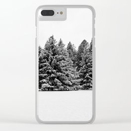 trees at the park Clear iPhone Case