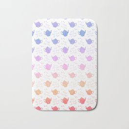 Time for Tea Pretty Pastel Colors Bath Mat