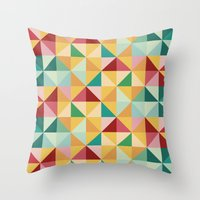 candy Throw Pillows featuring Candy by According to Panda