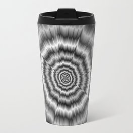 Explosion in Black and White Travel Mug
