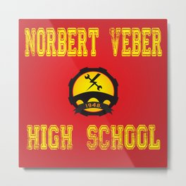High school logo Metal Print