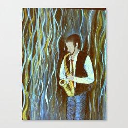 Bluesy Saxaphone Euphoria Canvas Print