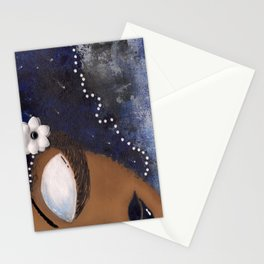 Blue and White Sassy Girl  Stationery Cards