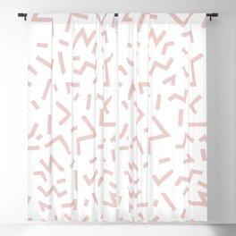 Memphis Minimal Lines Pattern Powder Pink Blush Blackout Curtain