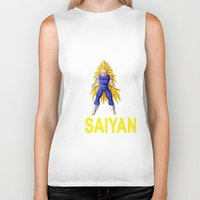 vegeta Biker Tanks featuring Train In Saiyan Vegeta  by nicksoulart