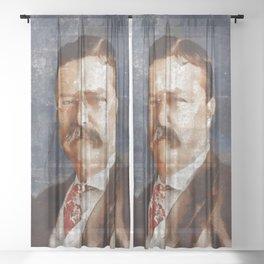 Theodore Roosevelt, President Sheer Curtain