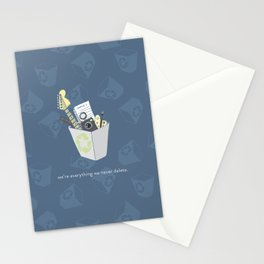 Never Delete Stationery Cards