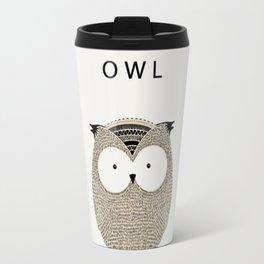 Cute hand drawn owl design Travel Mug