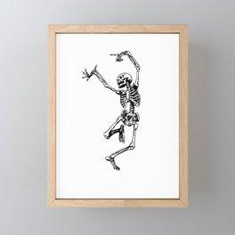 DANCING SKULL Framed Mini Art Print