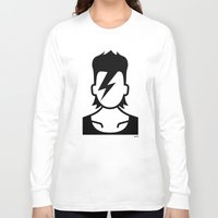 bowie Long Sleeve T-shirts featuring Bowie  by triangle.cross