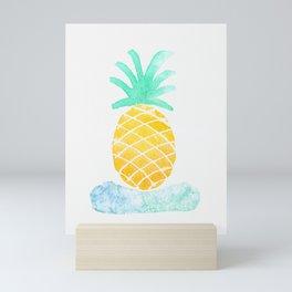 Watercolor Hawaiian Pinapple Mini Art Print
