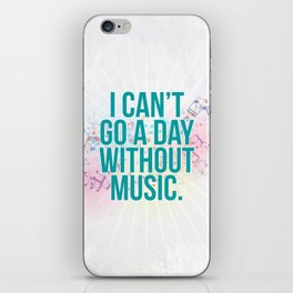 A Day Without Music Quote iPhone Skin