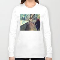 onward Long Sleeve T-shirts featuring Onward Into The Tunnel Forbidden  by AJ Calhoun
