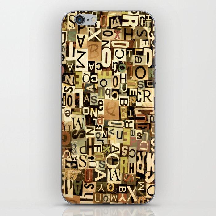 Alphabet iPhone Skin