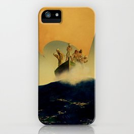 """""""The Pirate Ship"""" by Maxfield Parrish iPhone Case"""