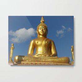 Large golden buddha looks spectacular Metal Print