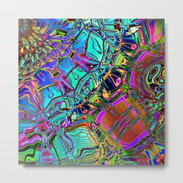 Colorful Automotive Pop Art Metal Print