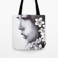 sakura Tote Bags featuring Sakura by Nester Formentera