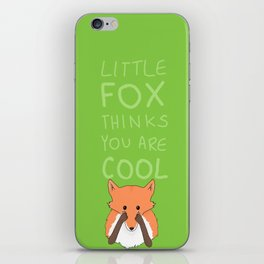 little fox iPhone Skin